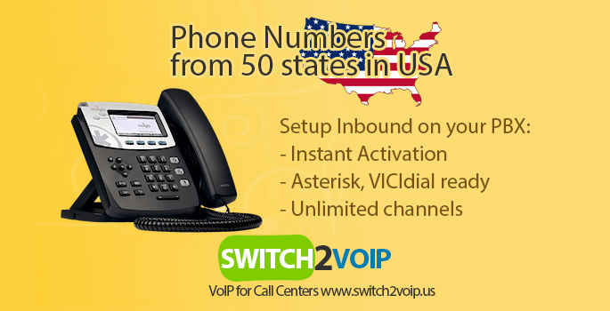 Usa phone number did for pbx and call centers