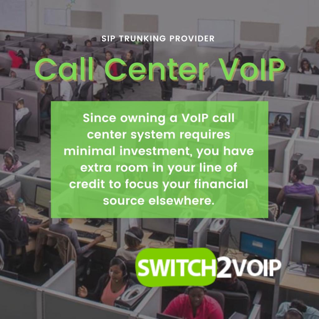 Call center voip