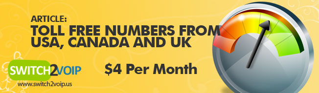 USA, Canada and United Kingdom Toll Free Numbers