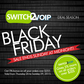 Black Friday Deal for Call Center and Business VoIP
