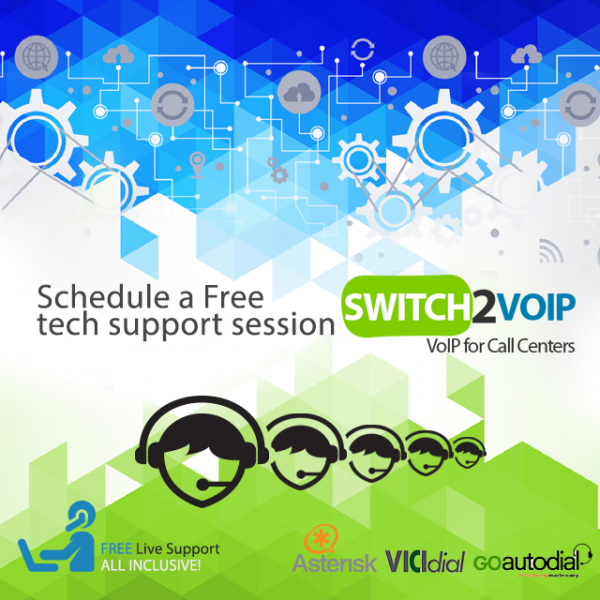 Schedule a free tech support session for vicidial and goautodial