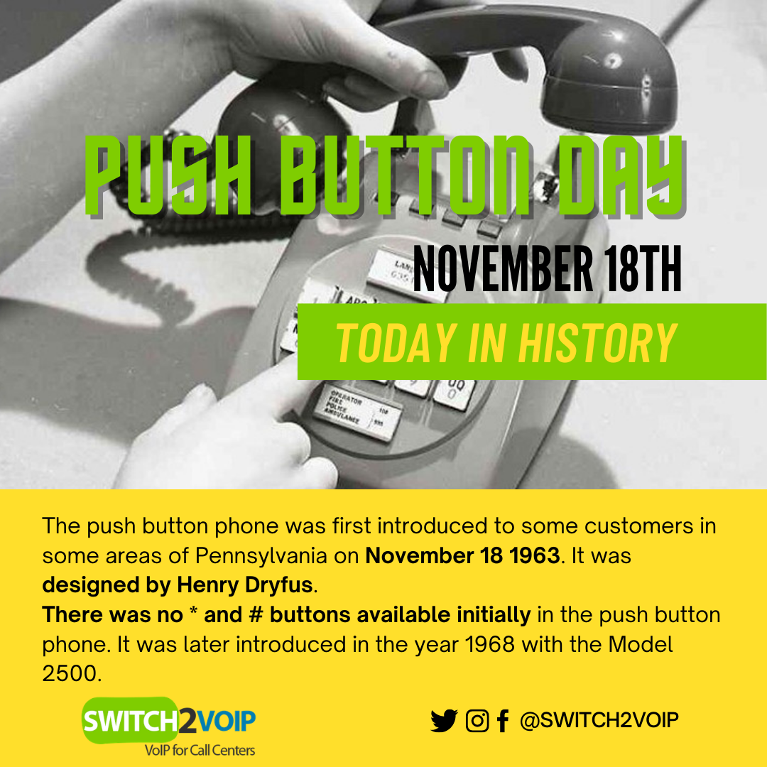 Push button day, November 18th, today in VoIP history