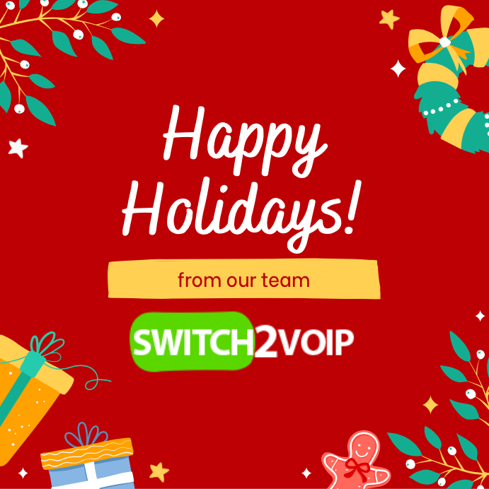 Merry christmas and happy new year voip provider