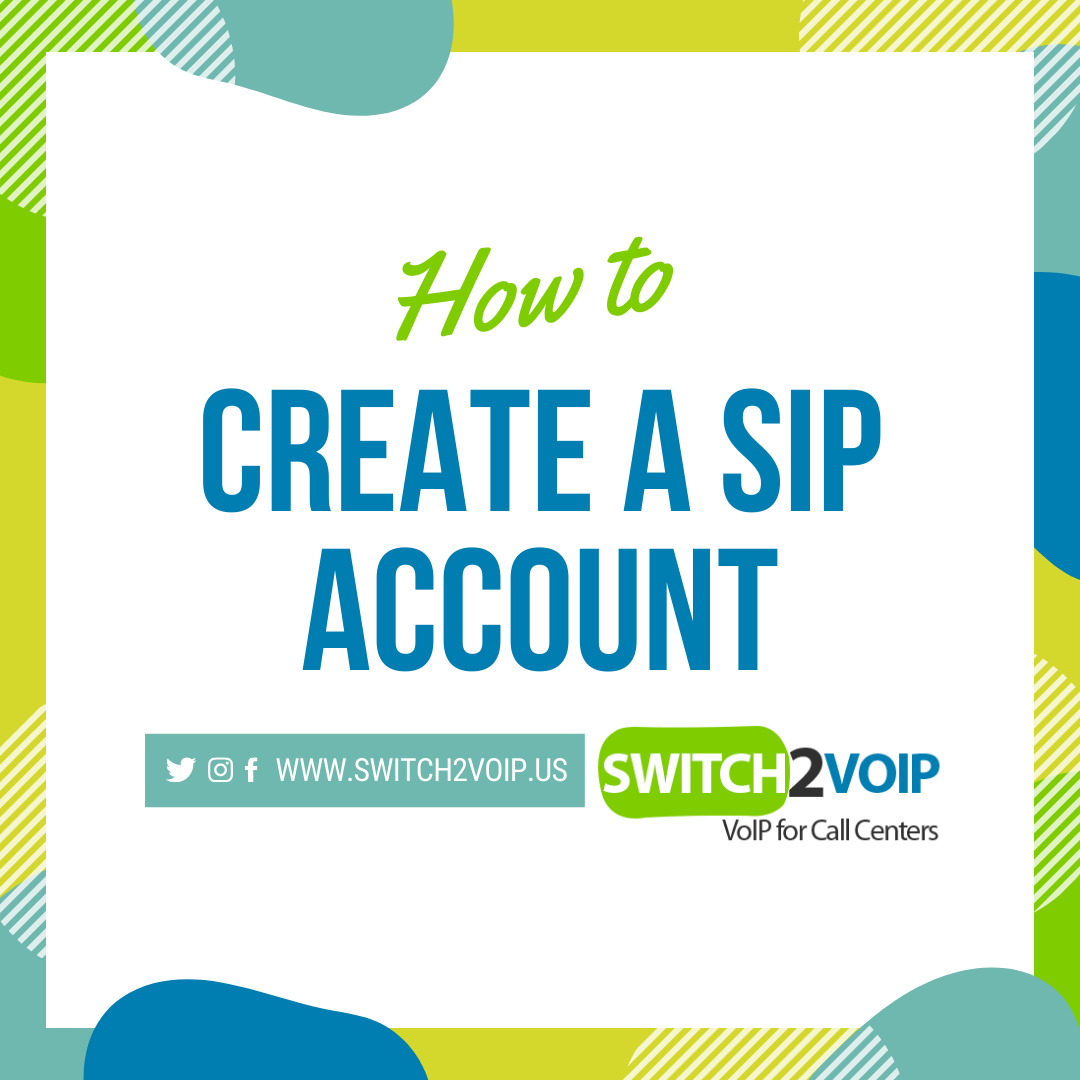 How can i create a sip account