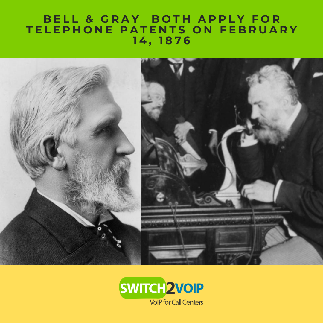 Bell and gray 14 february 1876 telephone patent