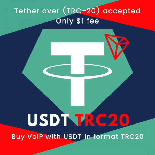 Buy voip with crypto usdt tether trc20