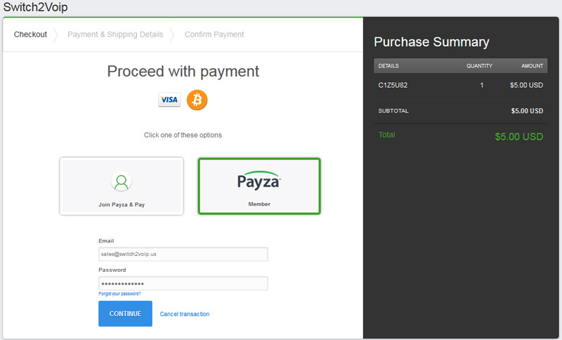 Buy VoIP with Payza